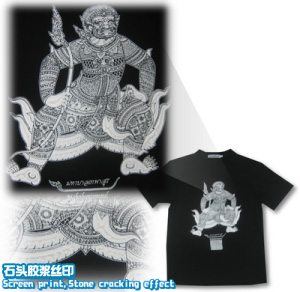 Tee100-logo-丝印-石头胶浆丝印-tshirt