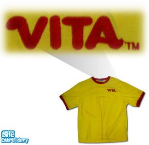 Tee100-logo-绣花-tshirt