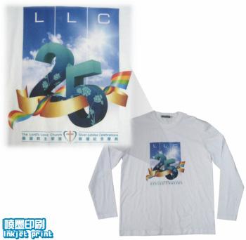 Tee100-logo-喷墨印刷-长袖衫